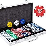 Yinlo Poker Chip Set - 200PCS / 300PCS Poker Set with Aluminum Case, 11.5 Gram Casino Chips for Texas Holdem Blackjack Gambling