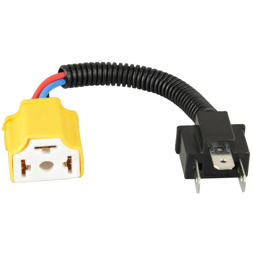 Sensational Amazon Com H4 9003 Ceramic High Heat Resistant Wire Wiring Harness Wiring 101 Ferenstreekradiomeanderfmnl