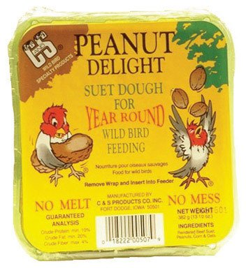 C&S CS12507 11.75 Oz Peanut Delight Wild Bird No Melt Suet Dough