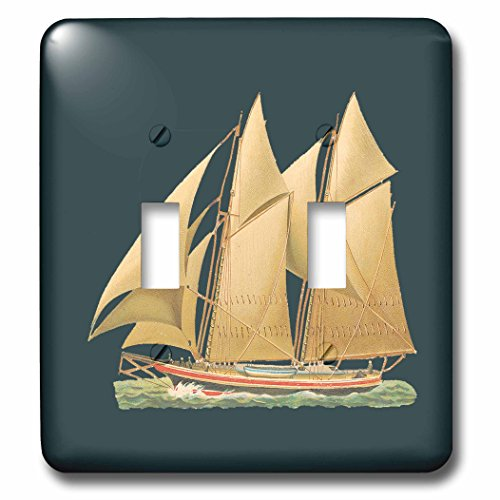 3d Rose 3dRose lsp_170424_2 Sailboat on The Water with Ta...