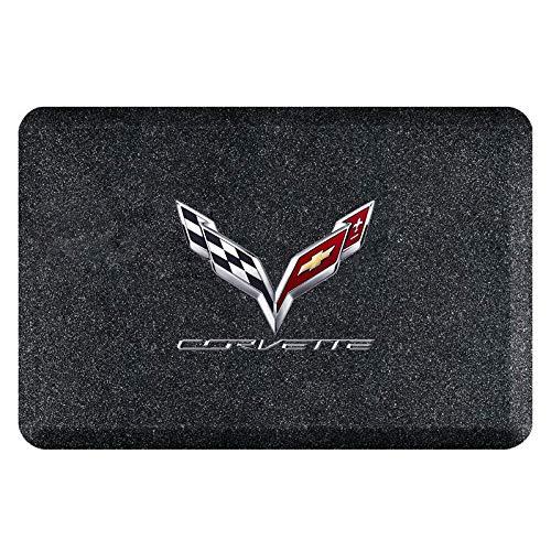 C7 Corvette Crossed Flags Logo Smart Step Garage Floor Mat : 32
