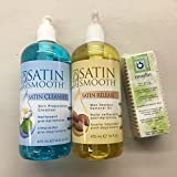 Satin Smooth Wax Cleanser/Remover Pack + Free 100 pc Muslin Strips For Sale