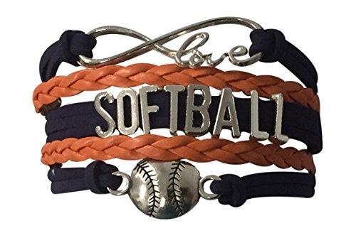 Softball Infinity Love Charm Bracelet- Softball Jewelry -Perfect Softball Player, Softball Team and Softball Coaches Gifts