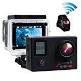 Action camera Campark 4K 16MP Waterproof Cam WiFi Underwater Camcorder with SONY Sensor, Remote Control and 2Pcs Batteries