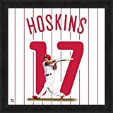 Rhys Hoskins Philadelphia Phillies 20x20 Jersey Uniframe Glass Framed Photo - Licensed Philadelphia Phillies Collectible