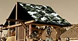 Custom Sized Green Camouflage Replacement Tarp  Canopy for Playset: Up to 70 Sq Ft Tarp Size