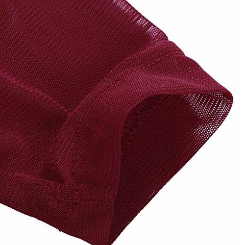 Top Ladies Donna Clubwear Shirt T Collo O YUMM Tops Camicia Vino Casuale Camicetta Eq1O5Ex
