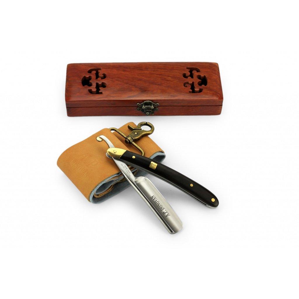 A.P. Donovan - Professional 7/8'' straight Razor - sandalwood handle - with strop