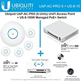 Ubiquiti UAP-AC-PRO-5 Pack UniFi Access Point + US-8-150W Managed PoE+ Switch