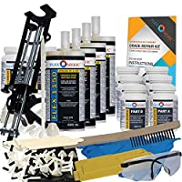 Concrete Foundation Crack Repair Kit - Ultra-Low Viscosity Polyurethane - FLEXKIT-1150-40