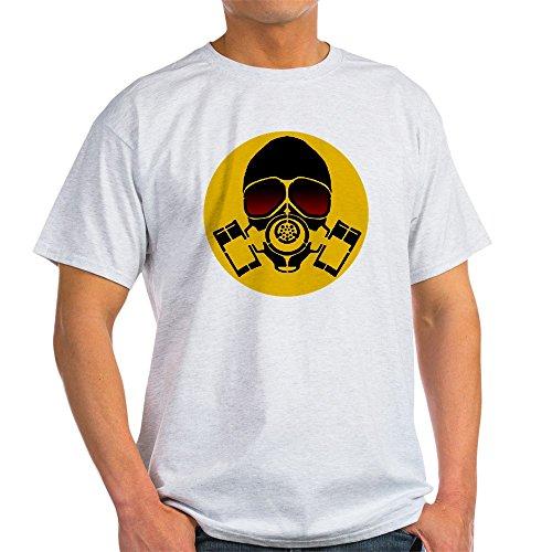 (CafePress Cantageus Gas Mask Badge Shirt T-Shirt 100% Cotton T-Shirt Ash Grey)