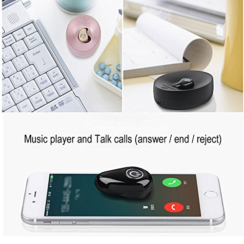 Hangang Mini Wireless Bluetooth earbud Hidden Headset With Large Battery Charging Box Earphones For apple iPhone 8 iPhone X,Samsung,iPad,Android phone (Single) by Hangang (Image #4)