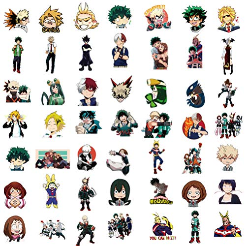 ViiYii My Hero Academia Stickers, Anime Stickers, 100 Pcs Vinyl Stickers for Hydro Flask Water Bottle, Laptop Computer Skateboard MacBook Stickers Pack, Cute Waterproof Decal Stickers