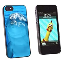 Graphics and More Dolphin Underwater Ocean - Scuba Diving Snap-On Hard Protective Case for Apple iPhone 5/5s - Non-Retail Packaging - Black