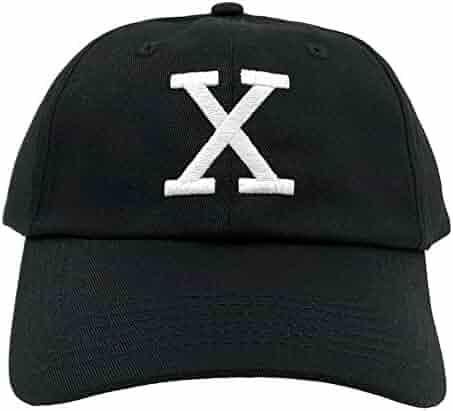 6eb3f2cdc8d65 Malcolm X Hat Dad Cap Custom 90s Embroidered X Logo Vintage Adjustable  (Black Hat)