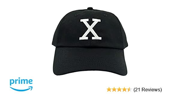 cac108d9cf8ce Amazon.com  Malcolm X Hat Dad Cap Custom 90s Embroidered X Logo Vintage  Adjustable (Black Hat)  Sports   Outdoors