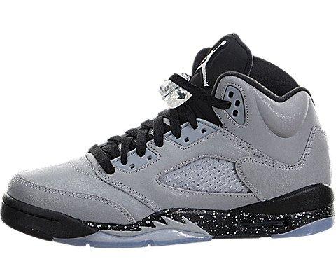 Nike Jordan Kids Air Jordan 5 Retro GG Wolf Grey/Black/Black Basketball Shoe 4.5 Kids