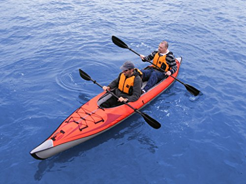 ADVANCED ELEMENTS AE-1007-R AdvancedFrame Convertible Inflatable Kayak, 15', Red