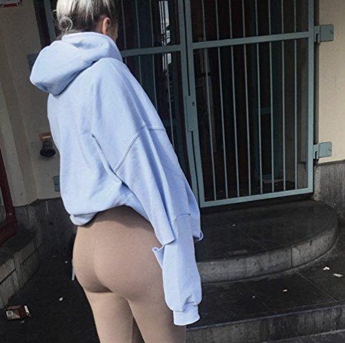 Camicetta Maglione Pullover Felpa Camicia WanYang Donne Cappuccio Blu Fori Tops Pullover Felpa Con x6xSqHPw
