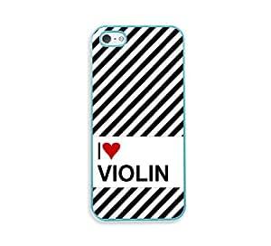 Love Heartviolin Aqua Silicon Bumper iPhone 5 & 5S Case - Fits iPhone 5 & 5S