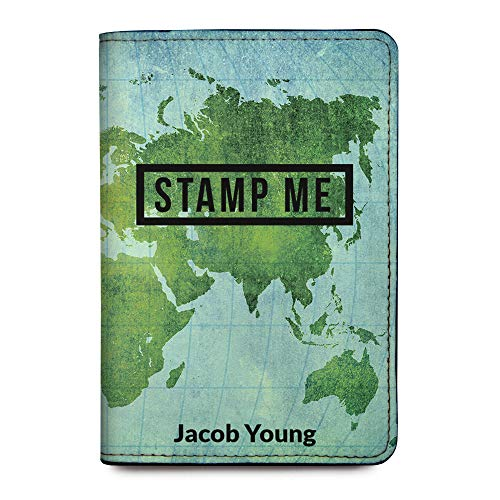 Personalized Leather RFID Passport Holder Cover - Travel Gift - Stamp Me