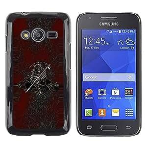 Be Good Phone Accessory // Dura Cáscara cubierta Protectora Caso Carcasa Funda de Protección para Samsung Galaxy Ace 4 G313 SM-G313F // Grim Reaper Death