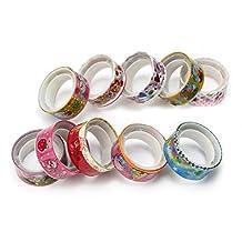 10 Rolls Colorful Cartoon Deco Cute Tape Adhesive Scrapbooking Sticker Popular