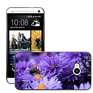 Hot Style Cell Phone PC Hard Case Cover // M00111392 Bluebottle Flower Pollen Insect // HTC One M7