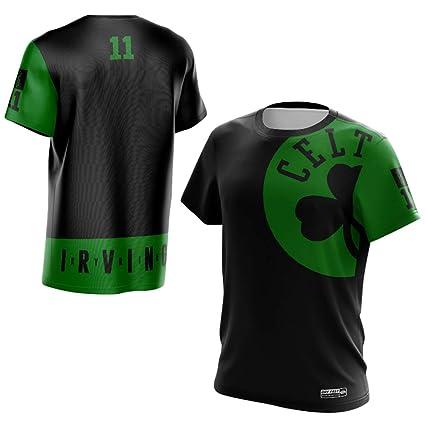 Uomo Boston Celtics Kyrie Irving #11 T shirt Gioventù Uomo Name &Number Magliette Sportive da Basket Moda Tee Tops