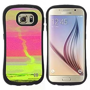 """Pulsar iFace Series Tpu silicona Carcasa Funda Case para Samsung Galaxy S6 , Puesta de sol verde Tornado Rosa Mar Resumen"""""""