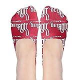 Detroit Smoking Gun Womens No Show Liner Sports Socks 1 Pack