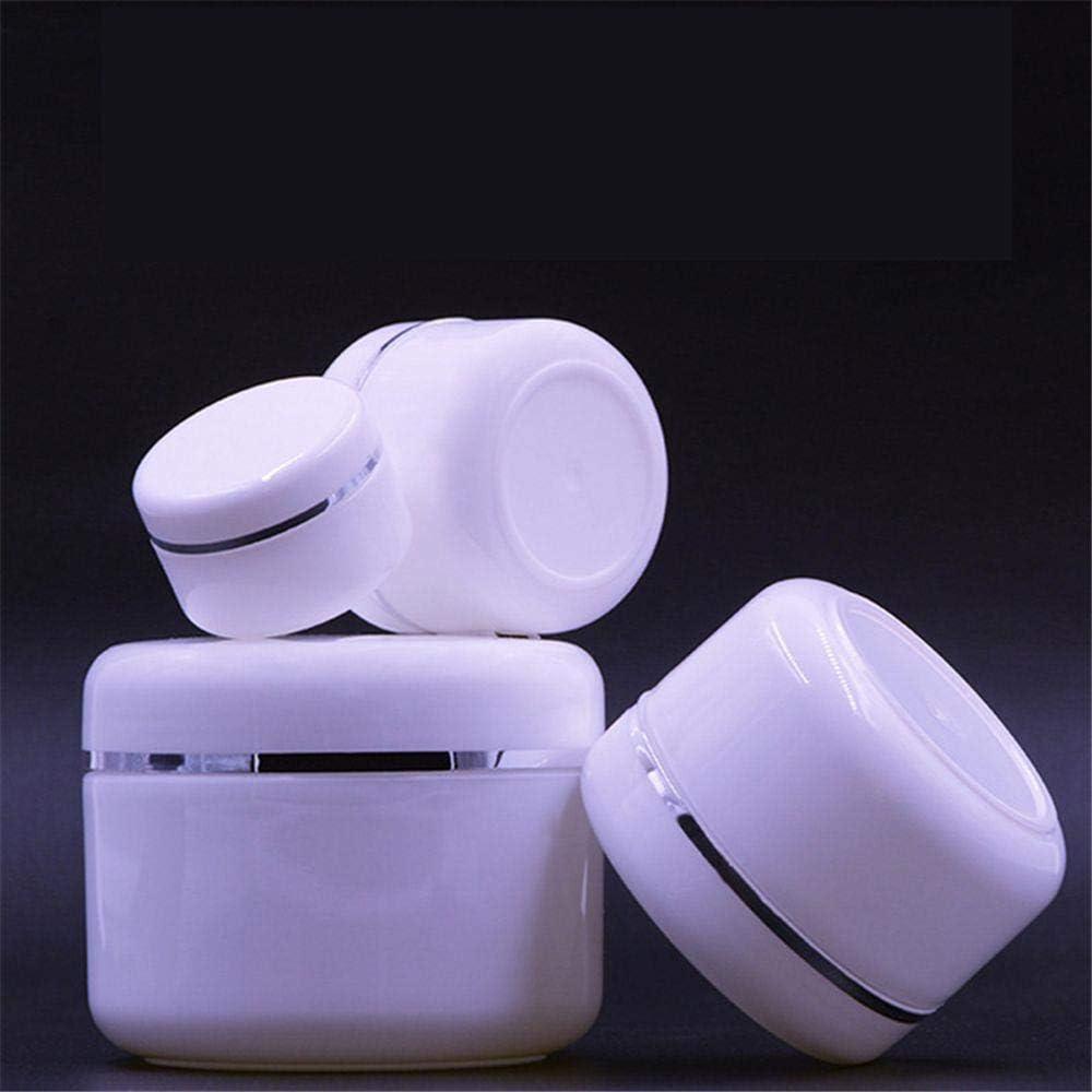 LASISZ Botellas Recargables Travel Face Cream Lotion Cosmetic Container Plastic Empty Makeup Jar Pot 20/30/50/100/150 / 250g, 50ml, Plástico
