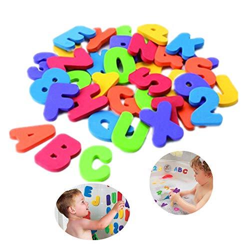 BAIVYLE 36 Bath Toys Letters & Numbers