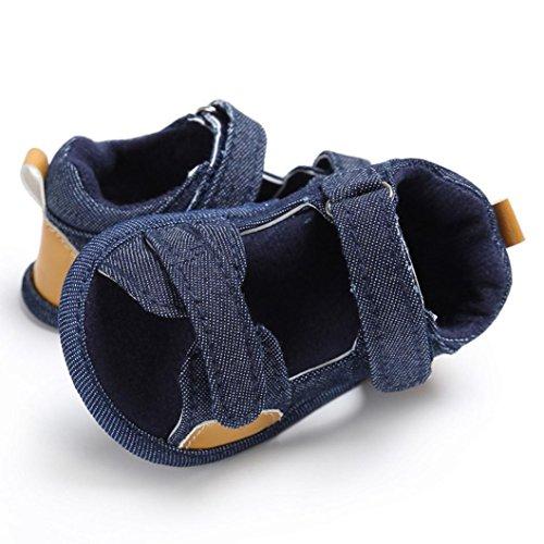 Bebé Zapatos, OverDose Niños bebés Niño pequeño de lona Zapatos de niño recién nacidos Azul