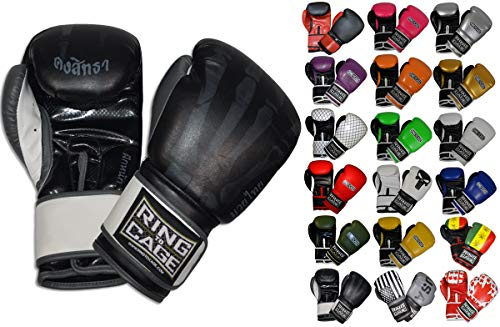 Ring to Cage Gym Training Stand-Up Boxing Gloves (X-Ray Printed, Regular Weighs 12oz) (Revgear Boxing Gloves 12oz)