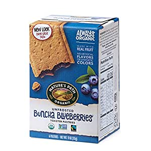 Nature's Path Unfrosted Buncha Blueberries Toaster Pastries, Healthy, Organic, 11-Ounce Box (Pack of 12)