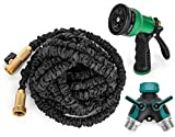 Get Hosed 50-Feet Expandable Hose with Sprayer Nozzle and 2-Way Splitter