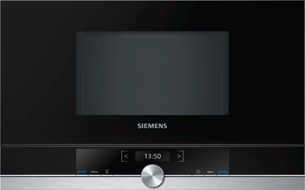 Siemens BF634RGS1 - Microondas (1220W, 59,4 cm, 31,8 cm, 38,2 cm) Negro, Plata