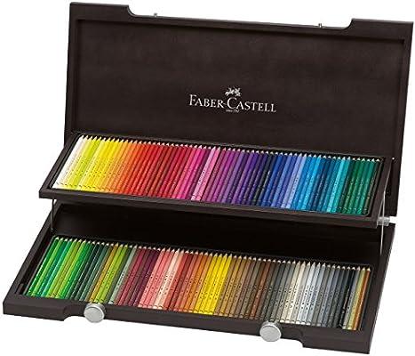 Faber-Castell - Lápices de colores en estuche de madera de wengué con 120 lápices policromáticos, Holzkoffer | Polychromos, 120 Farben, 1: Amazon.es: Industria, empresas y ciencia