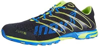Inov-8 Men's F-Lite 195 Cross-Training Shoe, Black/Lime/Azure, 12.5 Men/ 14 Women M US