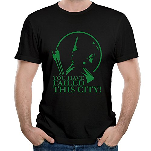 Simoymarina Man's Green Arrow You Have Failed This City T Shirt Cotton