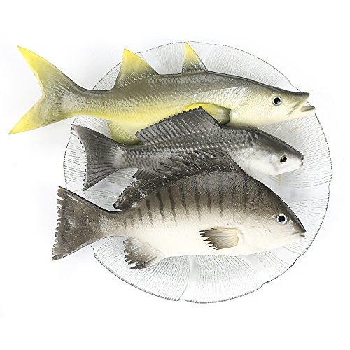 ZUINIUBI Fake Fishes Realistic Fish Playset Model Lifelike Food Prop