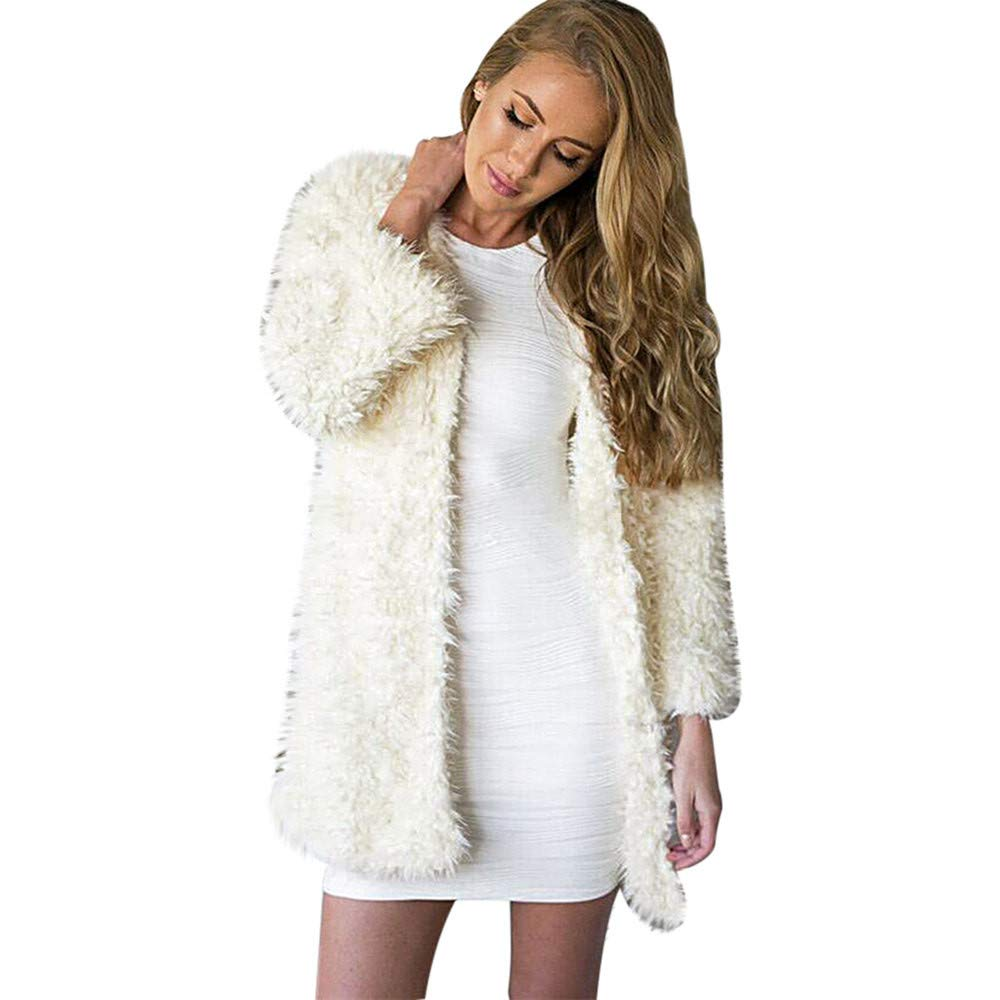 Thickened Lamb Plush Faux Leather Coat