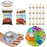 TOAOB 50000 Small water beads 100 Large Jumbo water beads 20 Balloons Biodegradable Non Toxic Water Beads for Kids Tactile Sensory Toys Vase Filler Wedding Centerpiece Home Decoration Plants