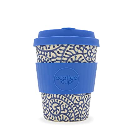 ec2f1274bb5 Ecoffee Cup Setsuko 12oz / 340ml Blue Wave Pattern | Reusable Bamboo Coffee  Cup