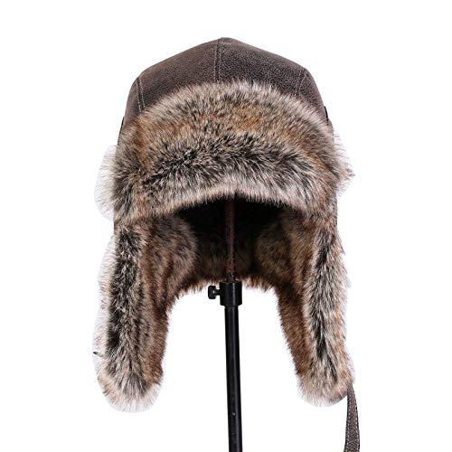6b2075aae7c GAZHFERY Hombres Estilo Ruso Invierno Bomber Caps Ear Flap Ski Snow Hat