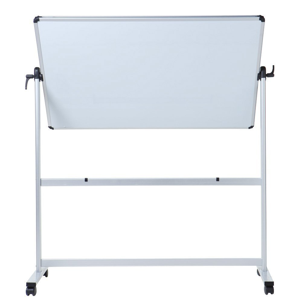 VIZ-PRO Double-Sided Magnetic Mobile Whiteboard, Aluminium Frame and Stand