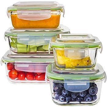 Amazon Com Zenware 10 Piece Microwave Safe Glass Food