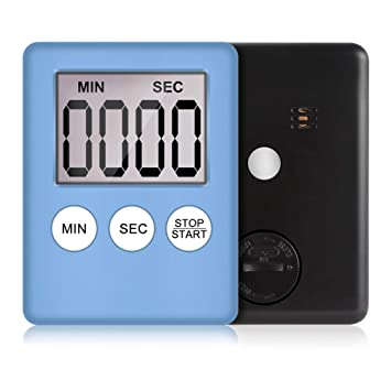 [1 PC] Temporizador de cocina digital LCD, reloj magnético multiusos para salón de lectura de yoga en casa: Amazon.es: Hogar