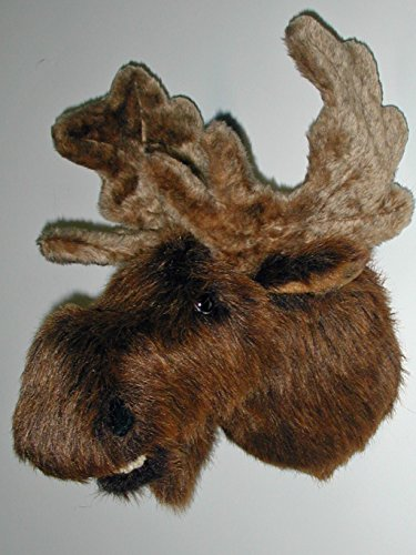 "Fairgame Wildlife Plush Moose Head ""Mitch"" Large Trophy Mount made in Maine"